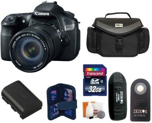@###  Buy Cheap Canon EOS 60D DSLR Camera Kit with Canon EF-S 18-135mm Lens + 32GB Master Kit -- Includes: + Large Vidpro Camera and Lens Case (Black) + Extra High Capacity Lithium-Ion Battery Pack + Transcend 32 GB Class 10 SDHC Memory Card + Card Reader + Memory Card Case + Zeikos Shutter Release + Digital Camera Cleaning Kit  Low Price Order Now!! Free Shipping !! Valentine's Day Gifts Idea for Him/Her