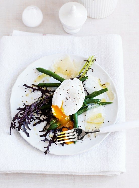 GREEN BEANS WITH EGG AND PARMESAN | Food food food | Pinterest
