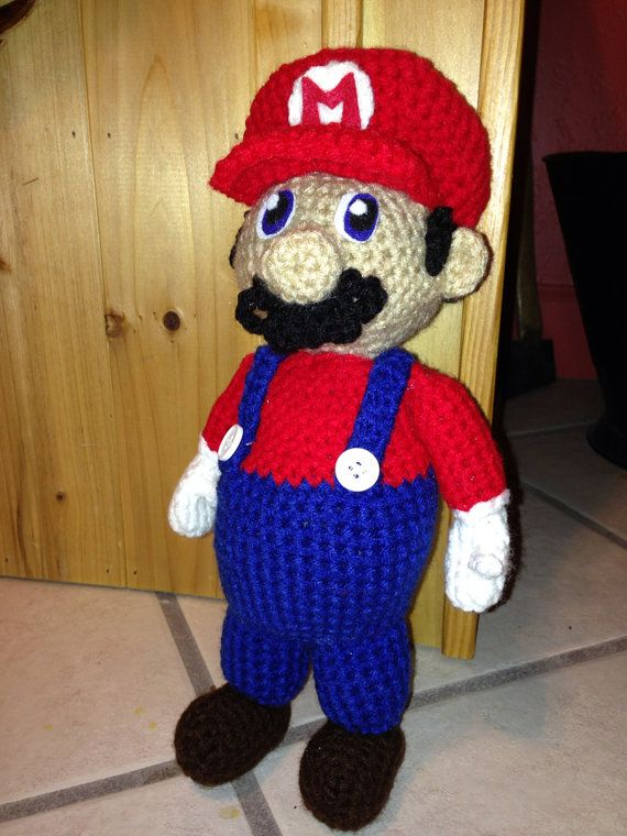 Free Crochet Pattern For Mario Hat : Mario Crochet Doll Images - Frompo