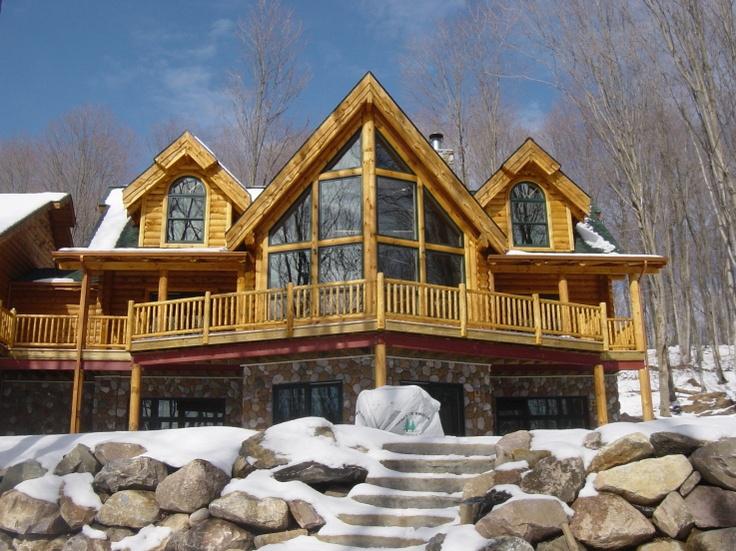 Exterior Log Home Log Homes My Dream Home Pinterest