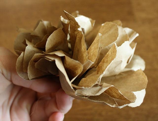 Paper bag flowers #tutorial