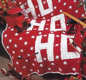 Crochet Afghan Patterns Christmas : 16A CROCHET PATTERN FOR: Pretty Christmas Afghan Ho! Ho ...