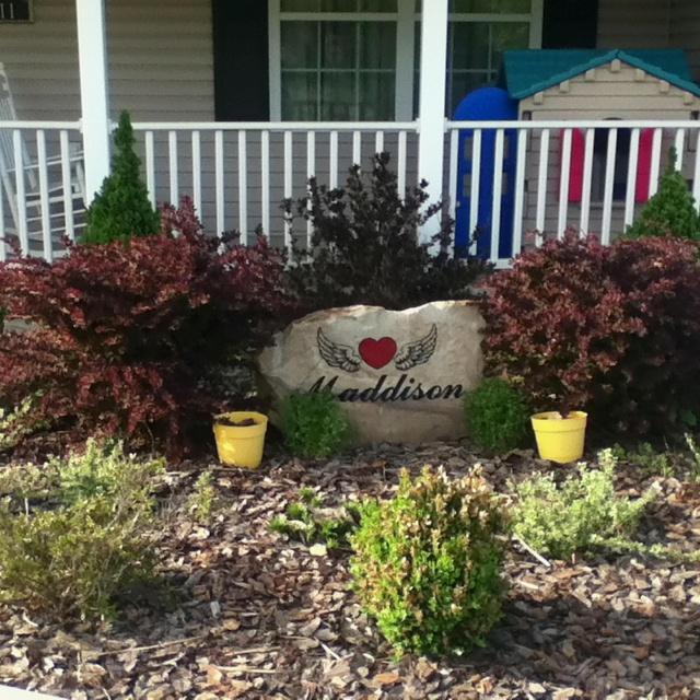 Memorial Garden For Our Daughter Memorial Rock Garden
