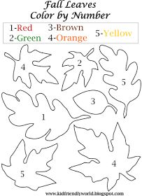 a kid friendly world: printables  fall leaves color by