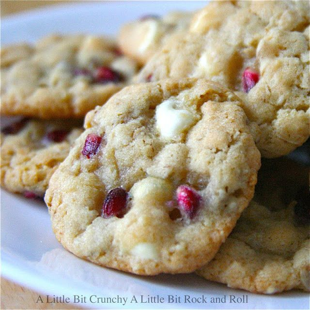 ... Little Bit Rock and Roll: Pomegranate White Chocolate Chip Cookies
