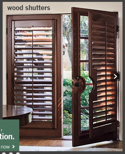 Great Wood Shutters For French Doors Draperies Shutters Pintere