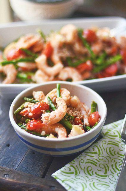 asparagus and shrimp stir fry shrimp stir fry on noodle pillows shrimp ...