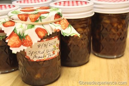 spiced-wine-peach-jam 025 | For my sweet tooth | Pinterest