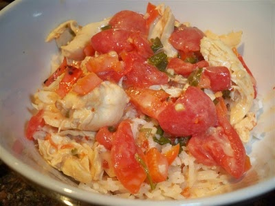 Garlic Chicken in Coconut Milk with Tomatoes and Cilantro
