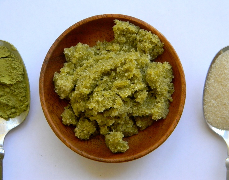 ... Scrub with Extra Virgin Coconut and Sesame Oils, and Matcha Green Tea