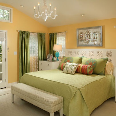 yellow and green bedroom bedrooms pinterest