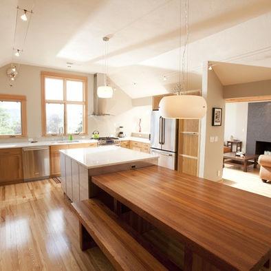 Combination island table kitchen pinterest
