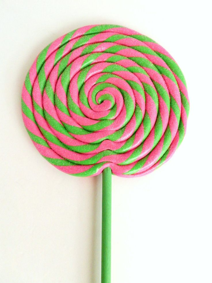 Pink And Green Swirl Lollipop Aka That Pink That