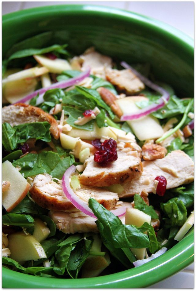 ... , celery, pecans, grilled chicken and honey mustard dressing