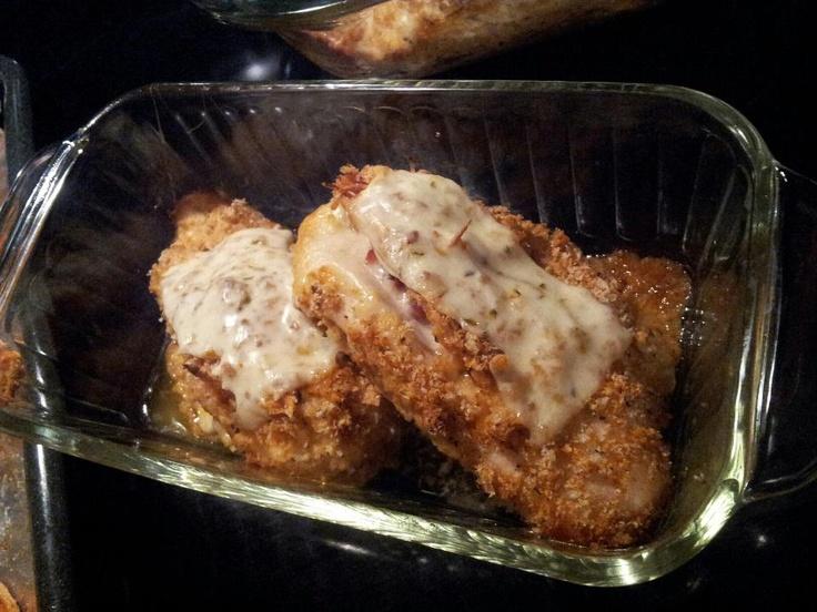 Bacon and muenster stuffed chicken | Chicken | Pinterest