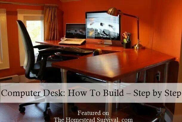 Homemade computer desk | Furniture | Pinterest