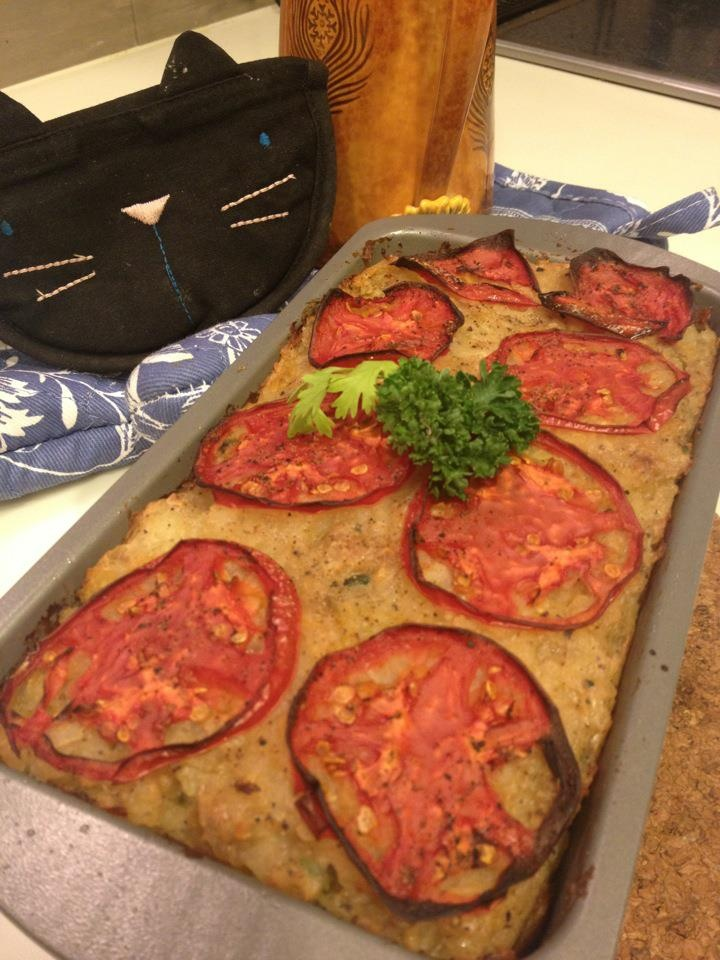 No meat.. Meatloaf! Loaded with tofu and vegetables!