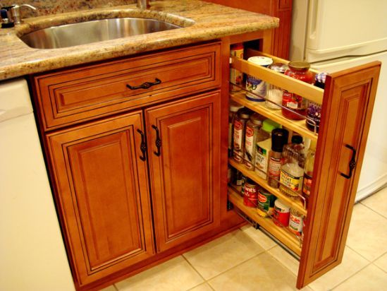 Kitchen Cabinets 9 Inch Pullout Pantry Kitchens Pinterest