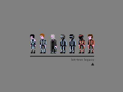 8-Bit Tron Legacy sprites. so adorable :)