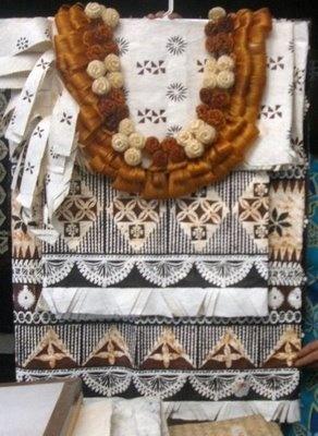 Fijian wedding tapa attire