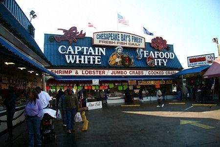 Captain white 39 s washington washington dc maryland for Waterfront dc fish market