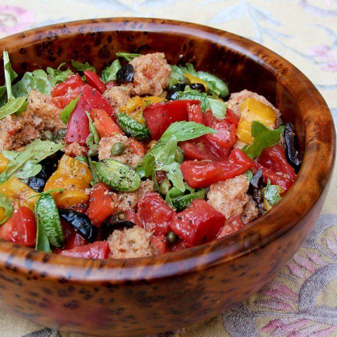 Tomato Bread Salad | Simply Salad | Pinterest