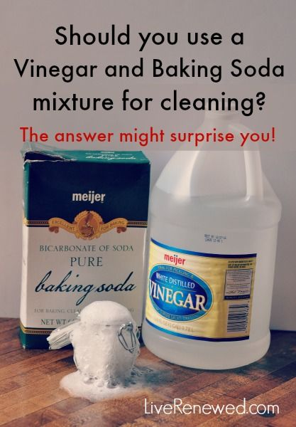 Should you use a vinegar and baking soda mixture for cleaning What kind of vinegar is used for cleaning