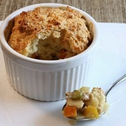 Chicken Pot Pies with Root Vegetables and Cheddar Biscuit Crust ...