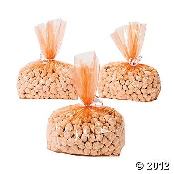 Orange goody bags for favors autumn wedding pinterest