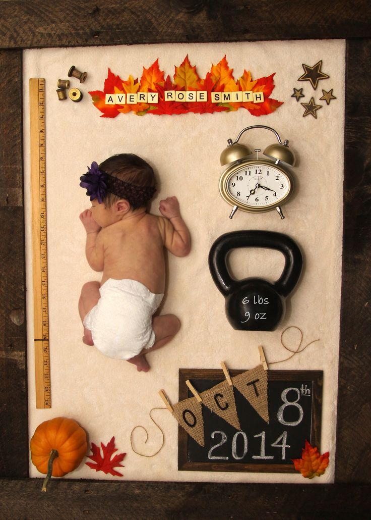 Averys Birth Announcement Fall and Autumn themed birth – Birth Announcements Indianapolis