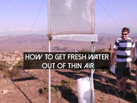 How to get fresh water out of thin air shtf preparedness