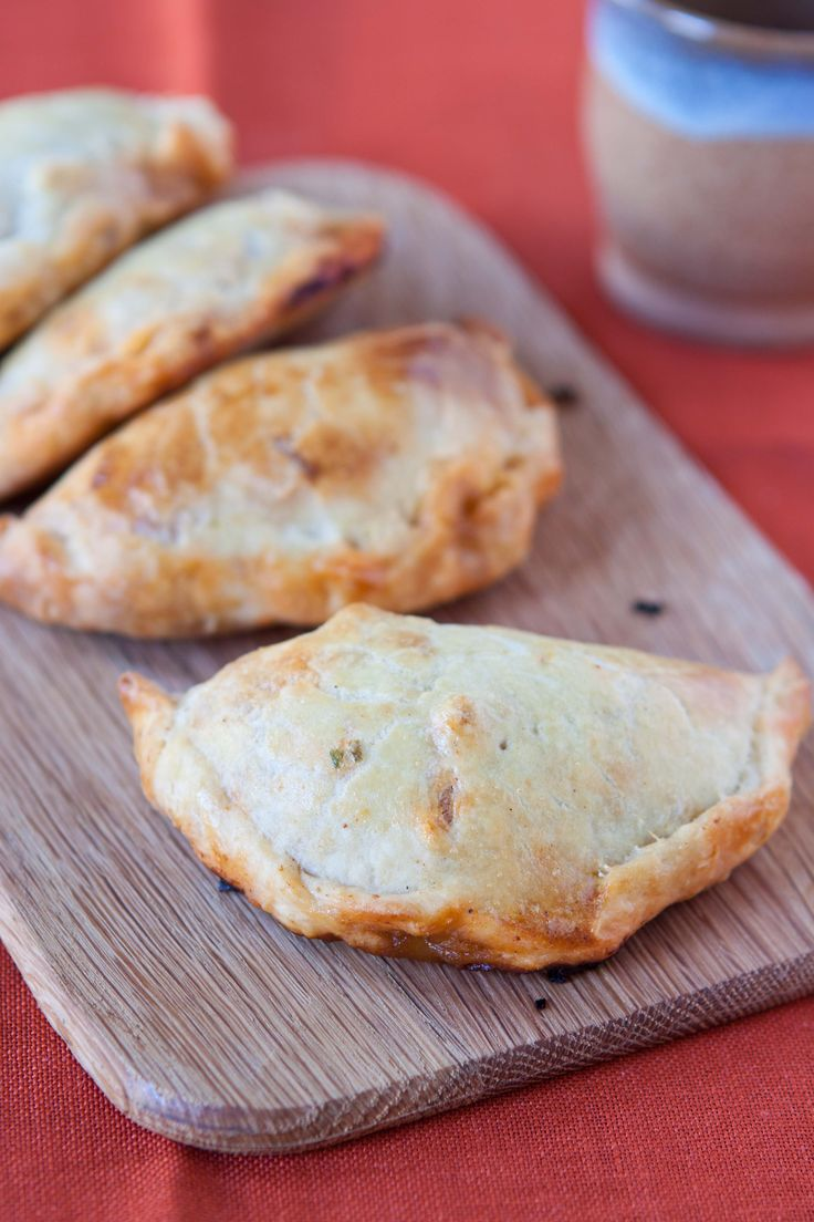 Little empanadas stuffed with chorizo, roasted red peppers, and ...