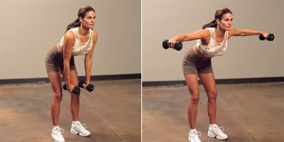 Dumb bell bent over lateral raise i workout for me pinterest