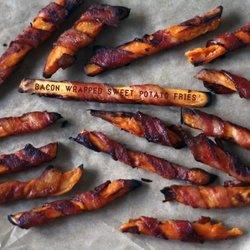 Bacon Wrapped Sweet Potato Fries — Punchfork