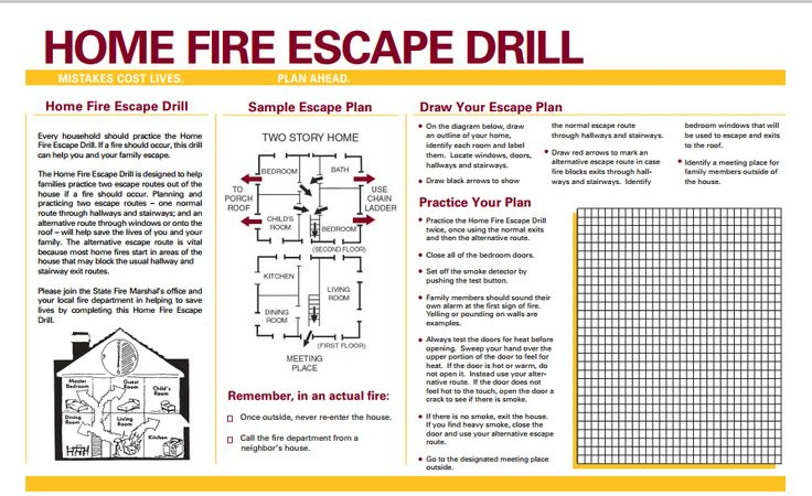 Home fire safety and escape plan school pinterest Home fire safety plan