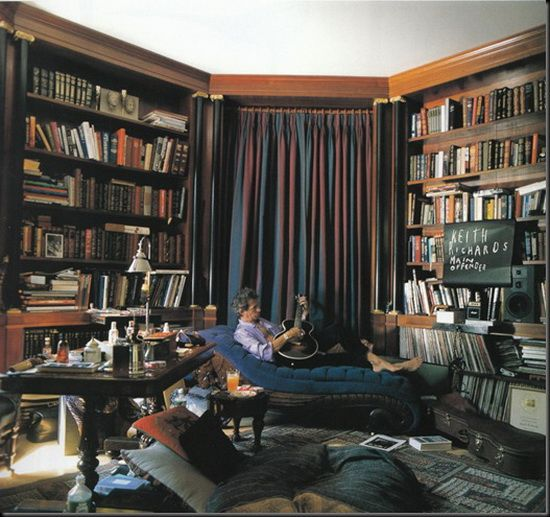Keith Richards 39 London Home Library Books Reading