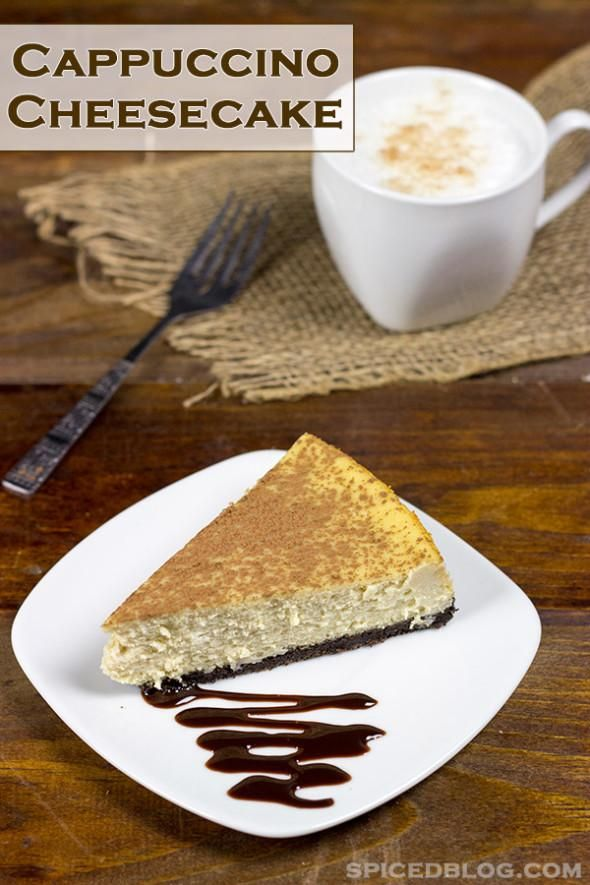 Cappuccino Cheesecake: The perfect after-dinner dessert! From @David ...