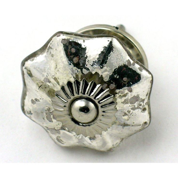 Set 12Pc Antique Style Mercury Glass Cabinet Knobs Drawer Pulls Ha