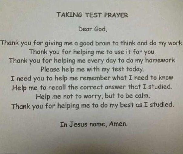 Comforting test taking prayer   Bible verses   Pinterest
