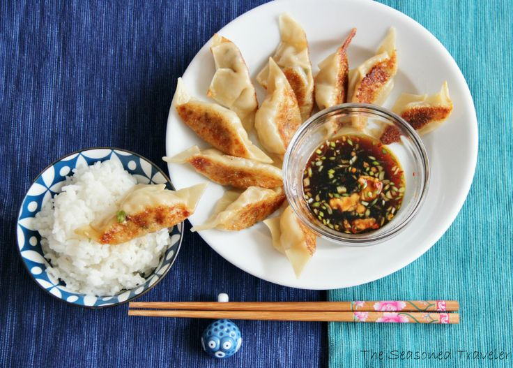 ginger pork and chive pot stickers | noms | Pinterest