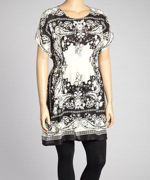 Amp white paisley tunic plus by life and style fashions zulilyfinds