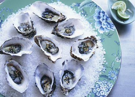 ... Traveller recipe for oysters with wasabi nori and lime dressing