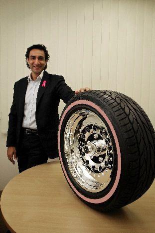 Radar Tires in Sears, Launch Pink Sidewall Edition