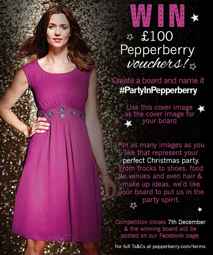Pin this as the cover image to your #PartyInPepperberry board for your chance to WIN