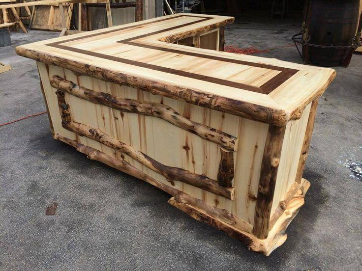 Rustic bar rustic bar pinterest for Rustic log bar