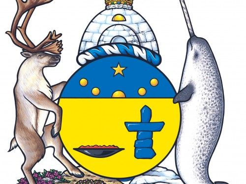 nunavut coat of arms colouring page