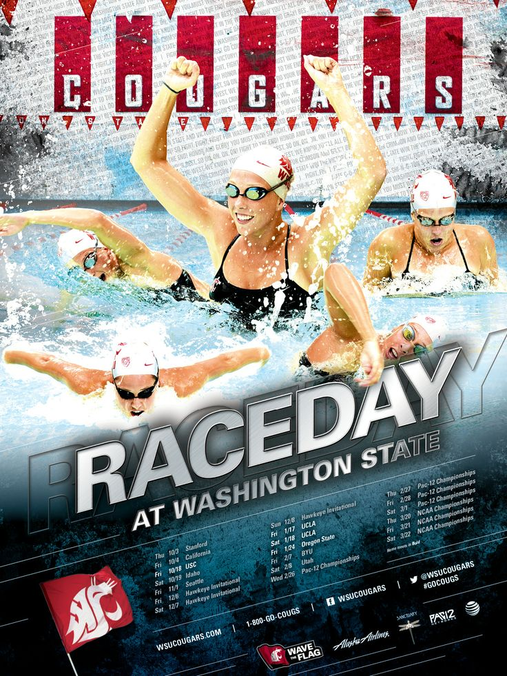 2013-14 Cougar Swimming Poster! #GoCougs | Posters | Pinterest