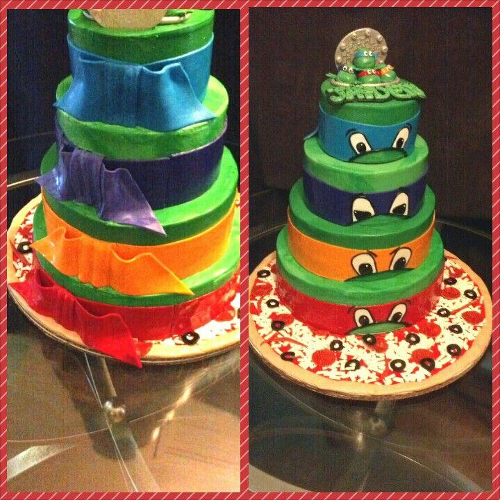 Ninja Turtle Birthday Cake :)& the planning begins...love birthday ...