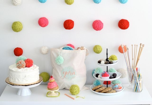 Yarn Ball Wall Garland Tutorial - I'm sure I can think of a party that requires this