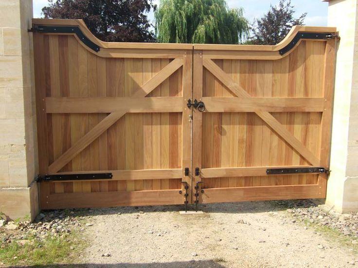 Деревянный ворота на даче своими руками 495